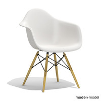 3d eames plastic armchair daw model