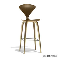 3ds max wood base stool cherner