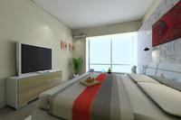 guest room 3d model