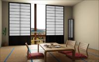 3d model japanese room