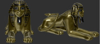 golden sphinx obj
