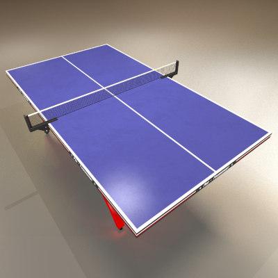 maya blue ping pong table