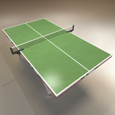 Low Polygon Ping Pong Table Green