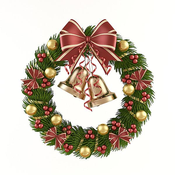 Christmas wreath d model