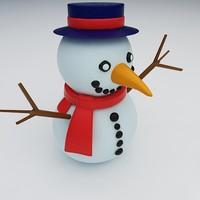 maya snowman snow toy