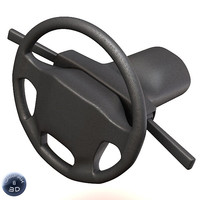 steering wheel 3d lwo