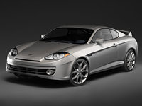 hyundai coupe tiburon 2008 3d model