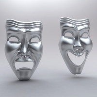 Theatre Happy Sad Masks