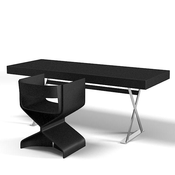 Gallery For Modern Black Desk