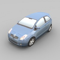 toyota yaris car 3d 3ds