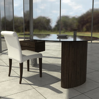 cattelan office chair table 3d max