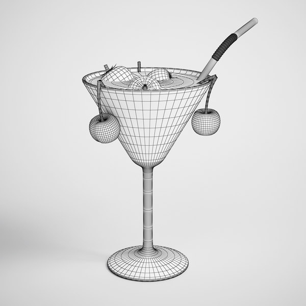 cocktail tropical 3d max - CGAxis 3D Model Tropical Cocktail 19... by cgaxis