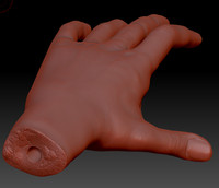 hand sculpture 3d 3ds