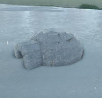 3d igloo inuits christmas model