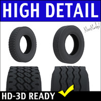 bfgoodrich semi truck tire 3d model