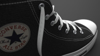 3d model of converse shoe