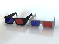 glasses red blue 3d model