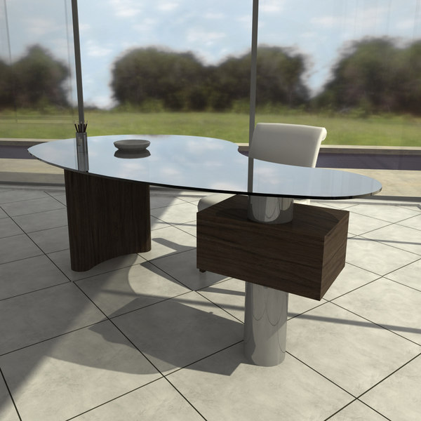 cattelan office chair table 3d max - office_table_02... by freesmith