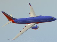 dxf b 737-700 southwest airlines
