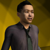 3ds max asian male character