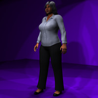 Black Female #2 Rigged Character