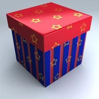 3d model christmas gift box