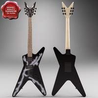 3dsmax dean guitar