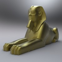 ancient egyptian egypt statues 3d model