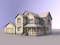 3d model single house