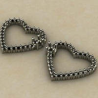 heart diamond 3d 3dm