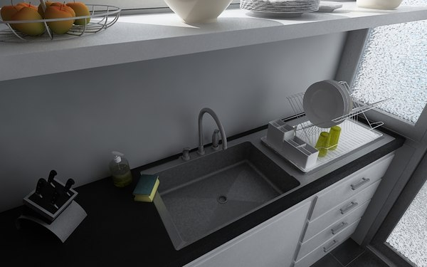 kitchen d 3d model - Highly detailed Kitchen... by William Riker