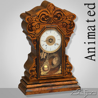 3dsmax old table clock animation