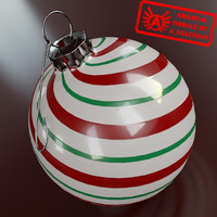 Ornament 7 - High Quality Christmas Ornament - 3ds max 2010 - Mental Ray