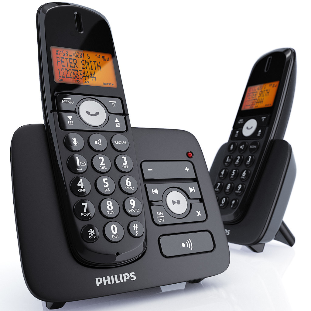 3d philips xl cordless phone model. Black Bedroom Furniture Sets. Home Design Ideas