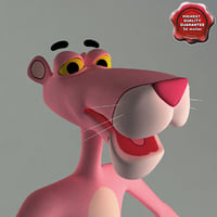 pink panther t-pose 3d max