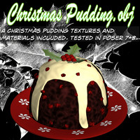 3d pudding christmas model