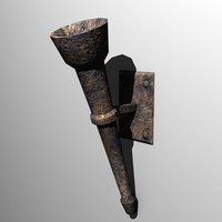 Torch, Low Poly