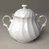 sugar pot porcelain 3d model
