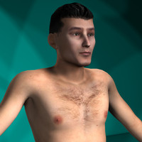 Nude Men Rigged Character Collection #1