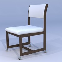 3d model chair dining room-