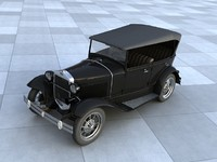 3d model gaz car gazik