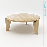 3d model prouvé gueridon bas coffee table