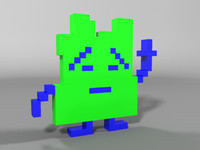 aqua teen hunger 3d model