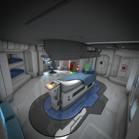 spaceship hd 3d obj