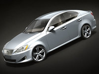 3d model lexus is350 2008 sedan