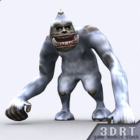 3ds max fantasy yeti monster animations