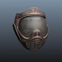 3d paintball mask model