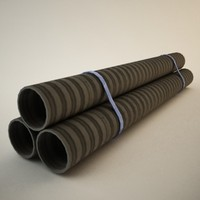 studio drainage pipes 3d model