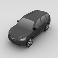 hyundai santa fe car 3d model
