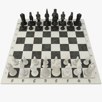 chess games figure 3d obj